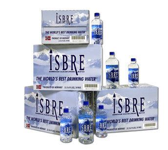 ISBRE, Norvēģijas ledāju ūdens, Standart 1L, iepakojums 12 pud.