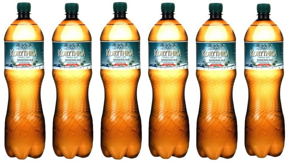Korytnica (Fe++), железистая минеральная вода 1,5L, упаковка - 6 бут.